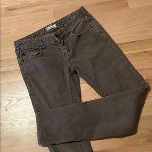 Free people straight leg corduroy pants